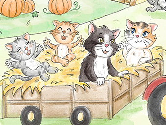 Kitty the Cat at the Pumpkin Patch